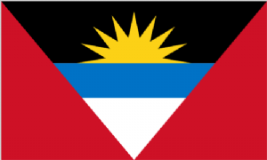 Antigua and Barbuda Large Country Flag - 3' x 2'.